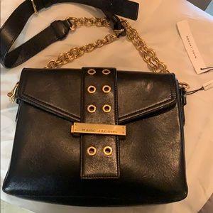 Black leather Marc Jacobs purse